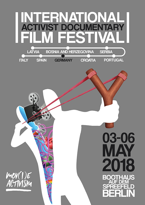 Official Poster of the Activist Documentary FIlm Festival Berlin Mov(i)e Activism 2018