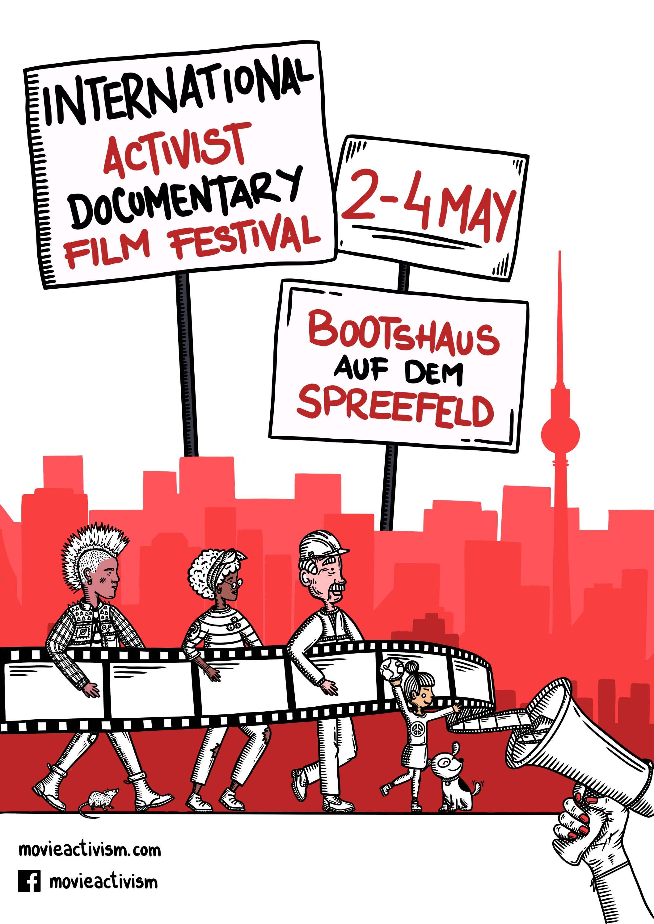Poster of the International Documentary Film Festival Berlin Mov(i)e Activism '19